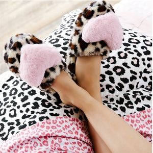 Betsey Johnson® Muk Luks Cheetah Heart Slippers
